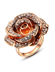 Ring Wedding / Party / Daily / Casual Jewelry Alloy / Gold Plated Statement Rings 1pc,6 / 7 / 8 Gold / Silver