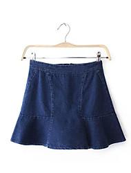 Women's Casual Ruffle Denim Skirt Short Skirts Tennis Mini High Waisted Skater Skirts
