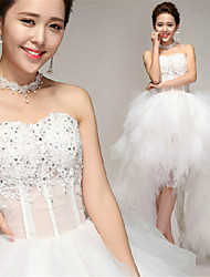 A-line Asymmetrical Wedding Dress - Sweetheart Tulle