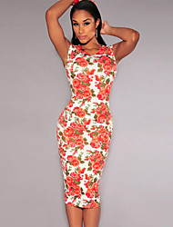 Women's Ivory Jade Floral Cut-Out Midi Dress
