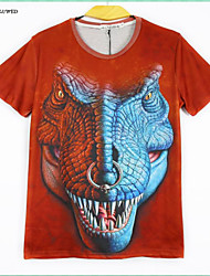 Men's Short Sleeve T-Shirts 3D Creative Animal Printing Shirt Men's Clothes Hip-hop Tops