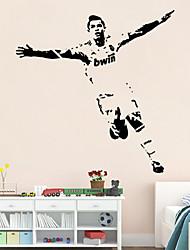 Wandaufkleber Wandtattoo-Fußball Sport-Figuren PVC-Wandaufkleber
