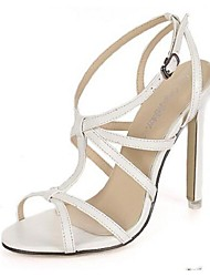 Women's Shoes Stiletto Heel Open Toe Sandals Casual White