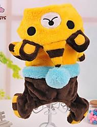 Dog / Cat Coat / Hoodie / Pants Blue / Yellow / Rose Winter Animal / Cartoon Wedding / Cosplay