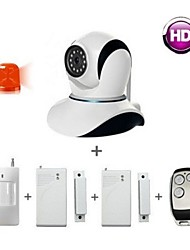 Smart Home Alarm Systems Security Kit , IP Camera Wifi / Remote Control / PIR sensor / Door alarm