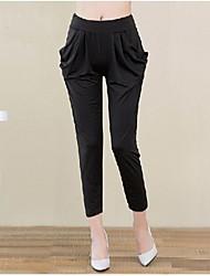 Pantalon Aux femmes Harem Décontracté Coton Organique/Rayonne Elastique