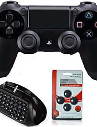 [pacakge regalo] controlador Dual Shock juego bluetooth inalámbrico con mini teclado inalámbrico& tapa de balancines para PS4