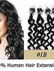 20-Zoll remy Mikroring / Schleifenhaar lockigen 0,5 g / s Echthaar Haarverlängerungen 8 Farben für Frauen Schönheit
