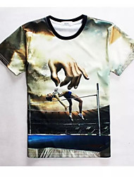 Women's High Quality Creative Funny Movement Summer Breathable 3D Style T-Shirt——Female High Jump