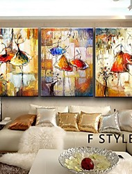 Bailarina pintura a óleo da arte da pintura da lona pintado à mão em 3pcs lona / set sem moldura