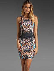 Women's Multicolor Holiday Paisley Print Mini Dress