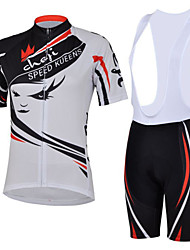 Cycling Bike Short Sleeve Clothing Set Bicycle Women Wear Suit Jersey Bib Shorts