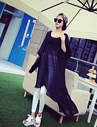 Women's Sexy/Beach/Casual/Lace/Party/Work Sheer ½ Length Sleeve Long  Bask In Clothes (Chiffon/PU/Feather)