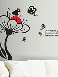 New Flower Fairy Cartoon Fashion Trade Stickers Removable Environmental Home Decoration Wall Stickers