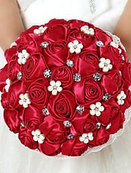Fleurs de mariage Rond Roses Bouquets Mariage Satin Env.22cm