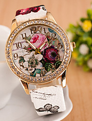 Women's Watches Diamond Fashion Watch Bohemia Style Watch Beautiful Flowers