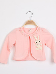 Girl's Pink / White Sweater & Cardigan Cotton Blend Spring / Fall