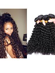 """3pcs/lot 8""""-34"""" Brazilian Virgin Hair Deep Curl Deep Wave #1b Hair Weft Human Hair Extension"""