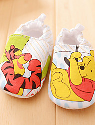 Baby Girl's Cartoon Pooh Bear Slip-on Shoes Infant Toddler First Walker Prewalker Walk Trainer Crip