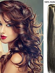 15inch 7pcs / set 70g clip-in hair remy human hair extensions 27 kleuren voor vrouwen schoonheid