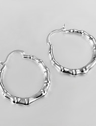 New Products 2015 Italy Style Silver Plated Africa Design Hoop Earrings Classical Design