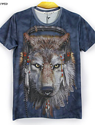 Hot New Summer Fashion Men's Short Sleeve Animal 3D Print T-shirt(M-XXL)
