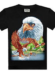 ROCKSIR Men's cotton T-shirt movement 3D