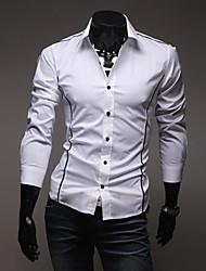 Yoonheel Men's Long Sleeve Shirt , Polyester Casual / Work / Formal Pure