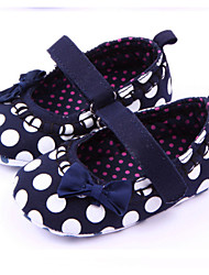 Baby Shoes - Casual - Ballerine - Tessuto - Nero / Rosso