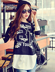 Pink Doll®Women's Casual/Print Patchwork ¾ Sleeve Loose T-shirt