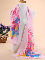 Hot selling new diamond flower printed chiffon scarves, shawls scarf