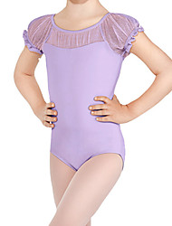 BHL Wholesale Cheap Toddler Girls Short Sleeve Ballet Cotton Tutu Leotards Kids Gymnastics Dancewear Size 4-14Y