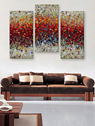 E-HOME® Stretched Canvas Art Abstract Decoration Painting  Set of 3