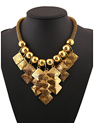 Zinc Alloy Gold Plated With Diamond Fashion Necklace