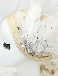Women's/Flower Girl's Feather/Rhinestone/Alloy Headpiece - Wedding/Special Occasion Hair Combs 1 Piece