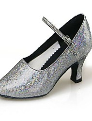 Women's / Kids' Dance Shoes Sparkling Glitter / Synthetic Sparkling Glitter / Synthetic Modern High Heels Cuban Heel