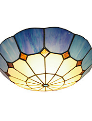 BOXOMIYA® The Mediterranean Style Warm Bedroom Ceiling Lamps Tiffany Lamp 40cm Lighting Luminaire Diameter