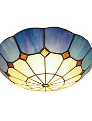 boxomiya® el techo de la habitación cálida diámetro 40cm lámpara de Tiffany lámparas de iluminación luminarias de estilo mediterráneo