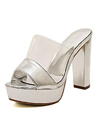 Women's Shoes Platform Open Toe Sandals Casual Silver/Gold