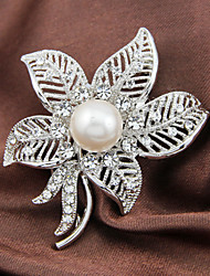 The Maple Leaf Brooch With Pearl Party Accessories