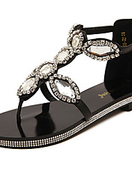 Women's Shoes  Flat Heel Comfort Sandals Casual Black/White