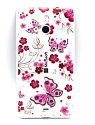 Pour Coque Nokia Transparente Relief Coque Coque Arrière Coque Papillon Flexible PUT pour Nokia Nokia Lumia 535 Nokia Lumia 435