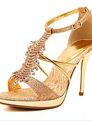 Women's Shoes  Stiletto Heel Heels Sandals Casual Gold
