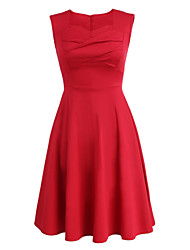 Women's Classic Vintage Solid Maxi Dress (Cotton Blends)