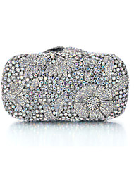 Miss Ricy Women's Silver Plating Rhinestone Luxurious Evening Bag