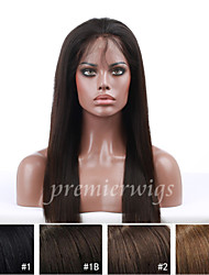 14''-20'' Silky Straight Remy Virgin Brazilian Human Hair Wigs Silk Top Lace Front Wigs With Baby Hair For Black Women