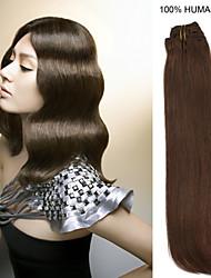 16inch 10st / set 100g clip-in hair remy human hair extensions 4 kleuren voor vrouwen schoonheid
