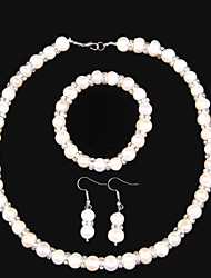Elegant Jewelry Sets With Freshwater Pearl And Rhinestone .