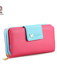 Handcee® Girls PU Candy Color Long Purse The Most Popular Elegance Cute Lady Purse