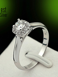 S925 Sterling Silver Diamond Ring for Women South Korea Zirconium Diamond Engagement Rings J036